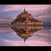 Le Mont St. Michel, Normandy, France :: 30113FRMSMmontstmichelrfljpg