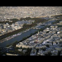 Paris, France from the Eiffel Tower :: 18451FRPARparisoverviewjpg